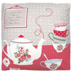 Tea time cushion...how cute!