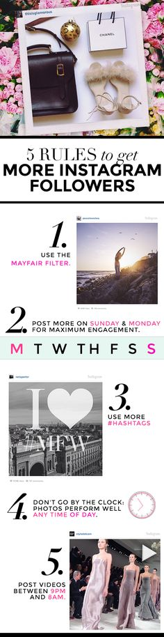 Very useful rules, especially in terms of Posting times on Instagram (Spoiler: Any time of day is good!)