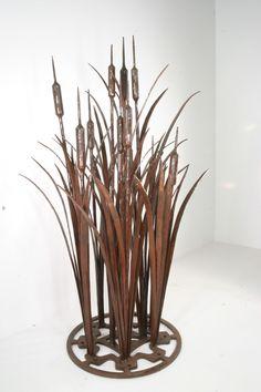 cattails sculpture from Oak Hill Iron