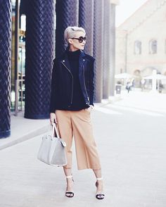 Blogger Victoria - In the Frow wears the Resort 16 Myriad Gilet during London Fashion Week
