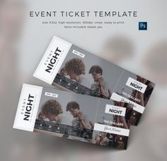 A Collection Of Well Designed Event Tickets Event Ticket