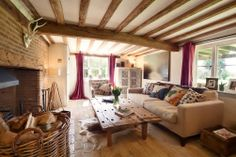 Plantation Farmhouse - luxury bed and breakfast in Suffolk. Fabulously comfortable living room.