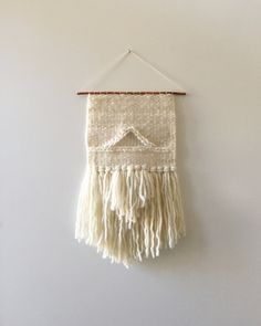Hand Woven Wall Hanging / Textile Art : Off White by 01JACKSON Momma Momma Momma loves it!