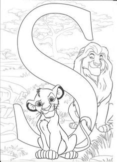 Alphabet Coloring Disney_S for Simba Coloring Letters, Alphabet Coloring Pages, Cute Coloring Pages, Coloring For Kids, Adult Coloring Pages, Coloring Books, Disney Coloring Sheets, Disney Princess Coloring Pages, Disney Princess Colors