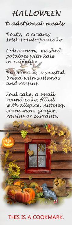 Halloween Traditional Meals Bookmark, $2.99