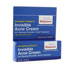 Walgreens Maximum Strength Invisible Acne Cream
