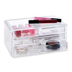 Clear 4-Drawer Cosmetic Organizer