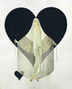 June Bride Art Deco by Erte