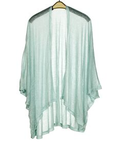 Loving this Mint Shimmer Kimono on #zulily! #zulilyfinds