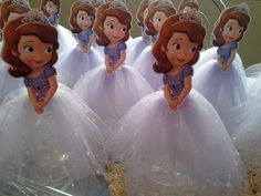 Enfeites de mesa Princesa Sofia 20cm