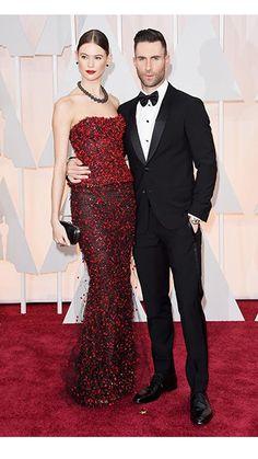 Red Carpet Watch: Oscars 2015 Adam Levine and Behati Prinsloo Anna Faris, Behati Prinsloo, Chris Pratt, Adam Levine, Brad Pitt, Oscars, Celebrity Couples, Celebrity Style, Adam And Behati