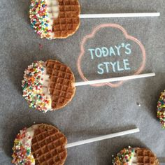 waffles on a stick Kids Party Treats, Snacks Für Party, Birthday Treats, Yummy Treats, Sweet Treats, School Treats, Food Humor, Cooking With Kids, Cute Food