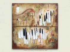 The Music of One Journey Diptych 24x24x1.5  One by TerraArtGallery