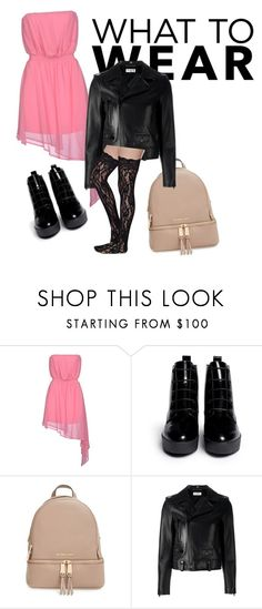 """pink is the new black"" by dayara-cabral on Polyvore featuring Noshua, Opening Ceremony, MICHAEL Michael Kors and Yves Saint Laurent"