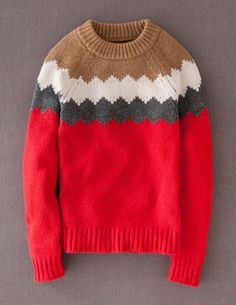 I've spotted this @BodenClothing Chevron Yoke Sweater Bright Red