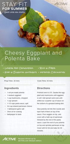 Try this delicious Eggplant and Polenta Bake Recipe #Stayfitforsummer