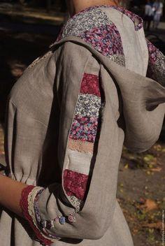 Платья ручной работы. Платье  Степная Полынь. Лариса Ряднова. Ярмарка Мастеров. Бохо стиль, славянская рубаха, средневековый стиль