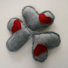 Catnip Kitty Hearts -- 4-inches...catnip/stuffing