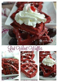 Red Velvet Waffles Red Velvet Waffles is the perfect Valentines breakfast or snack.