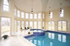 Mansions with Indoor Pools | mansion living room kitchen master s bedroom indoor pool outdoor pool ...