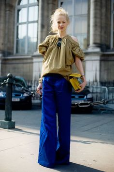 love the colors & the silhouettes Winter Street Style Fashion