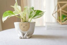 ceramic pottery Ceramic handmade planter pot Maya Perfect for the modern home, this white, speckled stoneware planter is perfect for a small to medium size plant or succulent. Diy Clay, Clay Crafts, Kids Crafts, Ceramic Planters, Planter Pots, Clay Planter, Ceramic Pottery, Ceramic Art, Pottery Pots