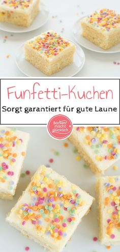 Konfetti-Kuchen vom Blech This colorful confetti cake provides a good mood! No matter whether you bake the Funfettikuchen from the tin to the children's birthday, bring as a carnival recipe in the Dessert Nouvel An, Funfetti Kuchen, Soda Cake, Carnival Food, Carnival Recipe, Confetti Cake, Easy Cake Recipes, Food Cakes, Good Mood