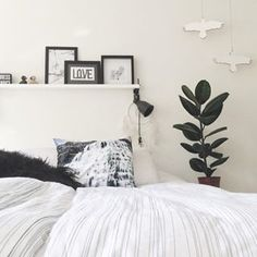 Install a floating shelf: | Community Post: 19 Ways To Make Your Bed Work Without A Headboard