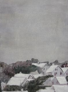 """Clare Grill, """"Town"""",  2010, oil on linen, 14"""" x 19"""""""