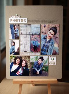 #papercraft #scrapbook #layout    Hybrid Layout: Senior Photos + a free Silhouette cut file for you