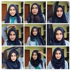 If you are a Hijabi, you know perfectly how much you struggle to find the appropriate Hijab style. Not everything looks great on your face shape; How To Wear Hijab, Hijab Wear, Hijab Outfit, Muslim Hijab, Muslim Dress, Muslim Fashion, Hijab Fashion, Hijabs, Hijab Style Tutorial