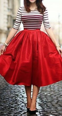 Get the look with our Marina Skirt http://www.tarastarlet.com/collections/skirts/products/the-marina-skirt