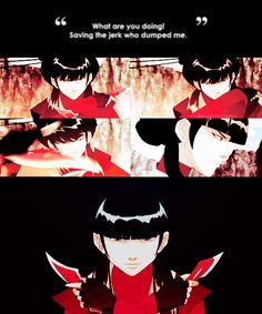 """Mai - """"You miscalculated. I love Zuko more than I fear you.""""  Azula """"No! You miscalculated! You should have feared me more!"""""""