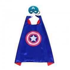 Disfraz capa Superheroe Capitan américa
