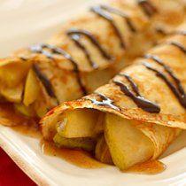Unas deliciosas crepas para acabar la comida con un sabor dulce; esta es una deliciosa receta Crepas de Peras Caramelizadas que te van a volver loca.