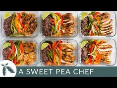 This delicious and easy Healthy Chicken Fajitas Meal Prep is a low carb, high protein, and high fibe Healthy High Protein Meals, High Protein Low Carb, High Protein Recipes, Healthy Meal Prep, Healthy Eating, Clean Recipes, Cooking Recipes, Healthy Recipes, Keto Recipes