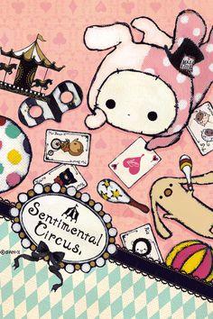 Shappo from sentimental circus Kawaii Chibi, Cute Chibi, Kawaii Cute, Winter Illustration, Kawaii Illustration, Sanrio Characters, Cute Characters, Rilakkuma, Chibi Base Couple