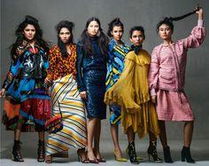 Pooja Mor, Raudha Athif, Jannatul Ferdoush Peya, Shenelle Rodrigo, Varsha Thapa & Deki Wangm in Vogue India October 2016 by Bharat Sikka