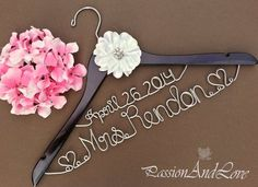 Personalized Two Tier Bridal Hanger