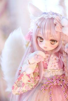 You are soo kawaii! Diy Kawaii Doll, Kawaii Anime Girl, Anime Art Girl, Custom Monster High Dolls, Custom Dolls, Anime Dolls, Bjd Dolls, Pretty Dolls, Beautiful Dolls