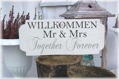 Willkommensschild...Hochzeitsgeschenk....www.meriland.at