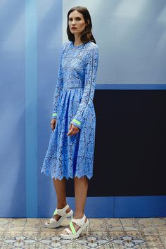 {Preen by Thornton Bregazzi | Resort 2015} Instead of those heels, I would go for some strappy gold or silver stilettos or nude pumps. Or flats, which would look good in a lot of colors. #aspeckofglittertalk