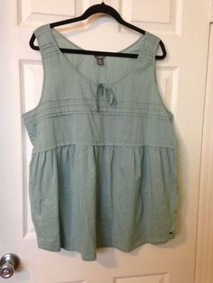 Eddie Bauer Women's 100% Cotton 2XL Sleeveless Seafoam Top  #EddieBauer #TankCami #Any