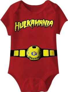 Transform your baby into the Hulkster with this tee! Kids from the 80's remember the Hulk … not the green one … the big blonde one – Hogan!