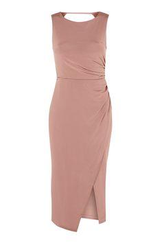 Slinky Drape Midi Dress