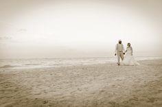 Beach wedding, wedding picture