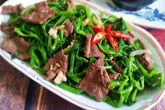 Hướng dẫn làm món Thịt bò xào rau muống đơn giản ngon