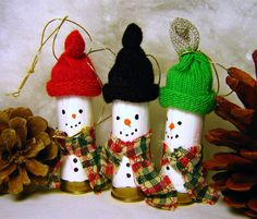 Christmas Ornaments Set of 2 Shotgun Shell Snowmen