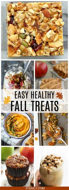 As the weather changes, kids head back to school and adults back to work, easy and healthy fall treats are essential. We've gathered some delicious treats you'll want to try. healthy food Easy and Healthy Fall Treats Healthy Treats, Healthy Desserts, Yummy Treats, Yummy Food, Healthy Fall Recipes, Healthy Food, Easy Fall Desserts, Healthy Fall Soups, Healthy Eating