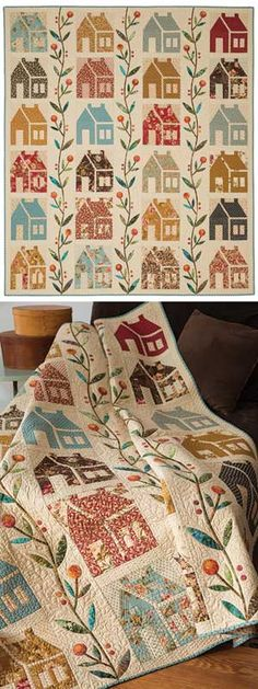 Love this house quilt!